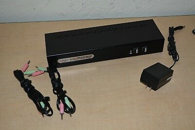 Linkskey LDV-DM702AUSK 2 Port Dual Monitor DVI KVM Switch w/ USB & 7.1 Surround