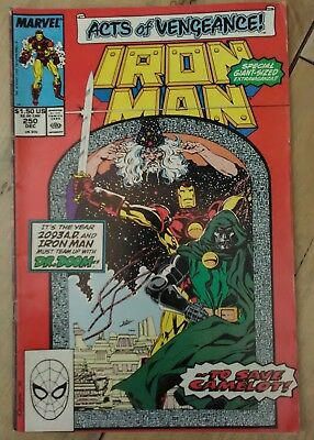 Iron Man #250 1989 VF Marvel Avengers Comic Acts of Vengeance Event P&P Discount
