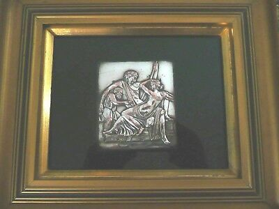 Antique Silver Plate Classical Scene Plaque, Framed & Glazed............ref.1173