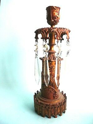 Antique Regency Style Gilt Lustres Lamp Base................ref.1183