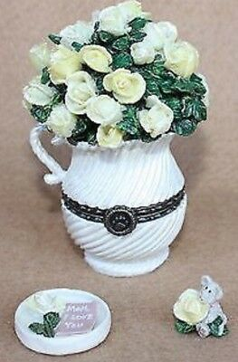 Boyds Treasure Box Collection - Hinged Box - Mom's Bouquet With Rosie Mcnibble