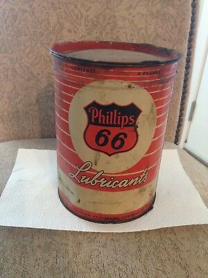 Vintage Old Logo PHILLIPS 66 Lubricants 5 Pound Can