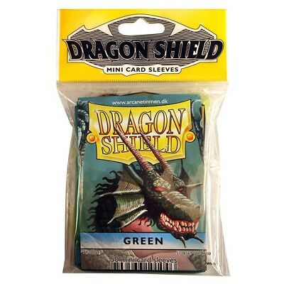 DP: Dragon Shield: Japanese: GR (50) Shield Mini Card Sleeves Green 50 Count