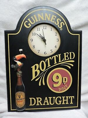 Guinness Bottled Draught Wall Clock