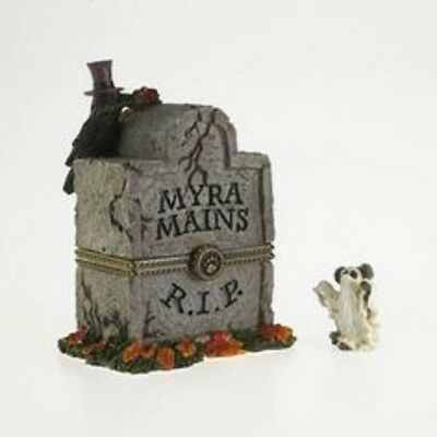 Boyds Treasure Box Collection - Hinged Box - Myra's Tombstone W/ghoulie Mcnibble