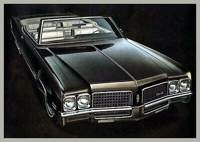 1970 Oldsmobile 98 Convertible, Refrigerator Magnet, 40 MIL Thick
