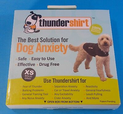 Dog Anxiety Thundershirt Size Xs Solid Grey New In Box