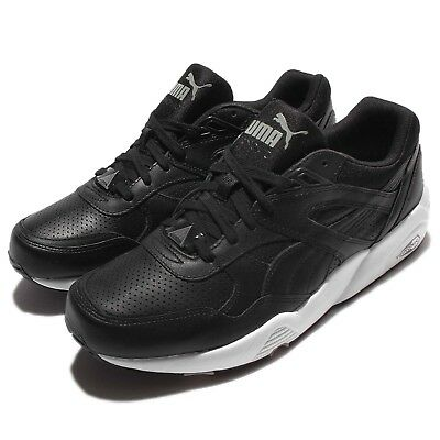 e19cda41a80 Puma R698 Core Leather Trinomic Black White Men Running Shoes Sneakers  360601-02