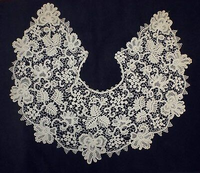 Beautiful Large Hand Made Lace Collar Purchased In France