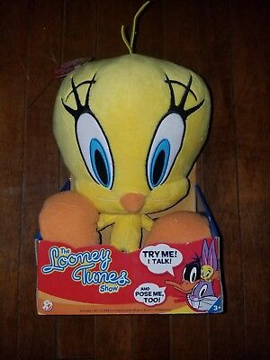 The Looney Tunes Show Plush Tweety Bird w/Sound Small 12 Inch Warner Brothers