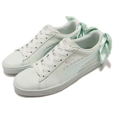 hot sale online 2bc1d 5db14 PUMA BASKET BOW Wns Blue Flower Green Women Casual Shoes Sneakers 367319-03