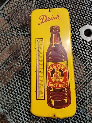 Vintage Mason's Root Beer Thermometer