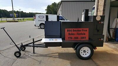 Pro Mobile BBQ Smoker Trailer w Wheel Dolly Grill Food Truck Vending Concession