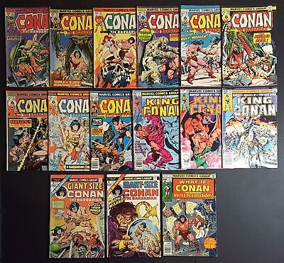 Conan The Barbarian Lot of 15 #42-44 46 49-51 57 84 GS #3 4 King x3 What If #13