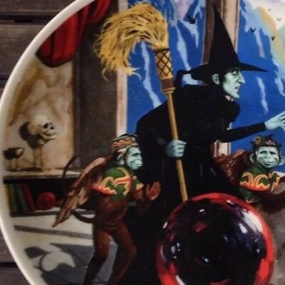 """Knowles Wizard Of Oz """"Wicked Witch of the West"""" Collector Plate (no. 02524D)"""