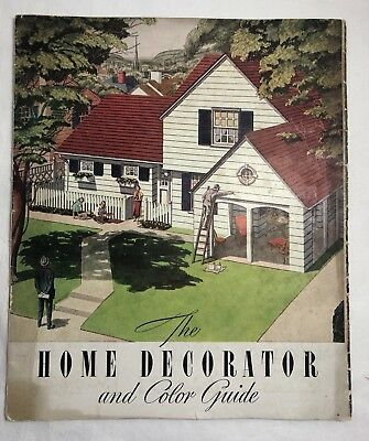 Vintage Sherwin Williams Paint Color Swatch Decorating Color Guide Booklet 1938