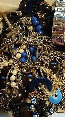 1+lbs NICE VINTAGE TO NOW JEWELRY LOT ESTATE  UNSEARCHED UNTESTED ALL WEARABLE!