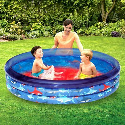 3-Ring Inflatable Blue Ocean Play Kids Toddler Swimming Pool Outdoor Swim Center