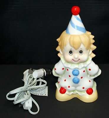 Lefton Clown night light electric fragrance lamp 1985 hand painted 05305 on/off
