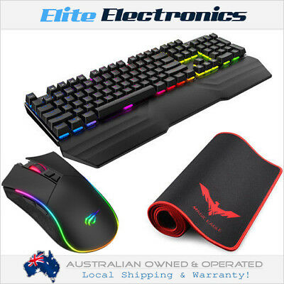 Havit Rgb Backlit Mechanical Gaming Keyboard Mouse Large Pad Special Bundle