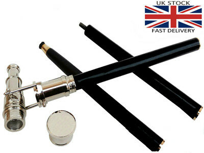 Wooden Telescope Handle Walking Stick Nickle Foldable Cane Dismantle In To Three