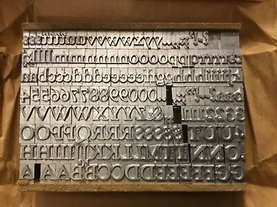 Letterpress Metal Type Goudy Bold 30 Pt New In Package
