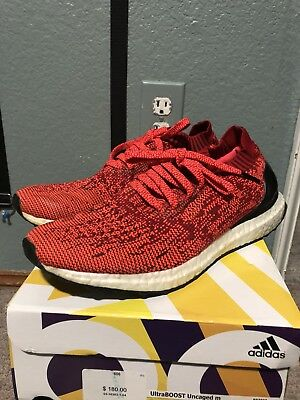 0d35683860665 ADIDAS ULTRA BOOST Uncaged Solar Red Mens Size 8 -  65.00