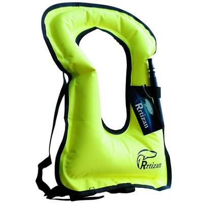 Rrtizan Unisex Adult Portable Inflatable Canvas Life Jacket Snorkel Vest for