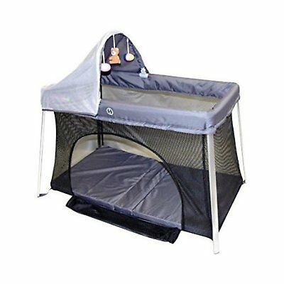 Portable Baby Crib with Sun Canopy Shade Bug Cover Net Mini Baby Travel Bed Cot