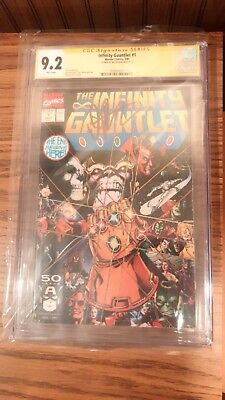 Complete set of Infinity Gauntlet 1-6 All NM #1 SS 9.2 By Jim Starlin!