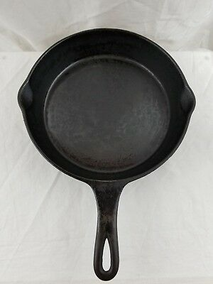 """Vintage/Antique Cast Iron UNMARKED #8 Skillet 10"""" Cleaned and Seasoned!"""