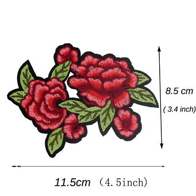 NEW DIY Roses Sew Iron on Patches Embroidered Badge Applique Sewing Cloth Patch