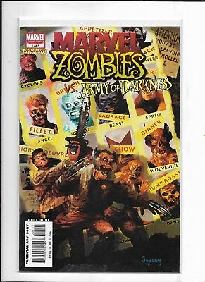 Marvel Zombies Vs.  Army Of Darkness 1- 5 Complete (2007 Marvel) High Grade