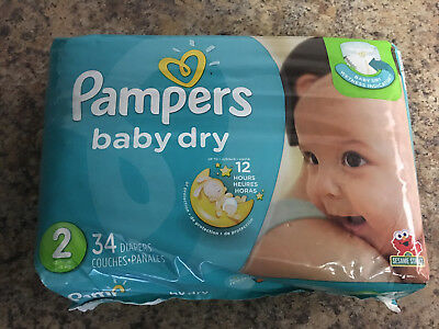Pampers Baby Dry Diapers - size 2 - 34 diapers