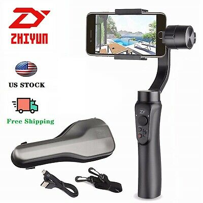 Used Zhiyun Smooth-Q 3-Axis Handheld Gimbal Stabilizer for Smartphone (black)