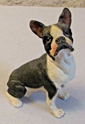 "A BEAUTIFUL Female ""BOSTON TERRIER"" Figurine 3 1/2""TALL Its NOT Lightweight"