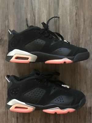 07b1cc323d1 Air Jordan 6 Retro Low GG Black Sunblush 768878 022 Grade School Shoes Size  4Y