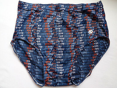 Vintage 70S 80S Jockey Life Dp's Blue Red Tricot Briefs Mens Size Large 36-38