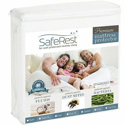 King Premium Cover Waterproof Mattress Pad Protector Bed Vinyl Safe Wetting