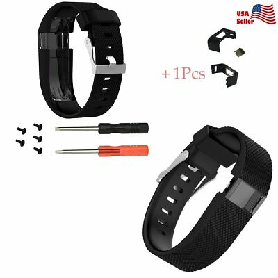 For Fitbit Charge HR Replacement Wristband Band Clip Button Charging Clasp L