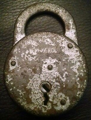 Vintage Antique M. W. & Co. Mallory Wheeler & Co. Padlock Lock No Key Usa Made