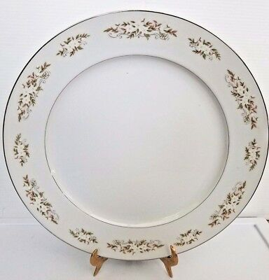 "International Silver Co 326 Springtime Round Serving Platter 12 1/2"" Fine China"