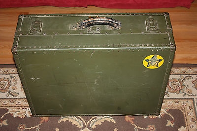 Vintage WW II U.S. Navy OSHKOSH Seapack Suitcase w/ Compartment divisions NICE