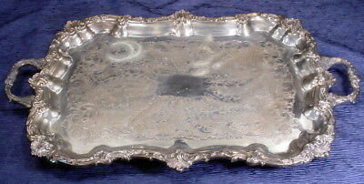 "Large Sheffield Silver Plate 1770 Butler Tray 24"" x 14-1/2"""