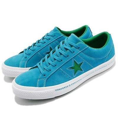 9271c843e17 Converse One Star Pinstripe Blue Green Suede Mens Womens Shoes Sneakers  159813C