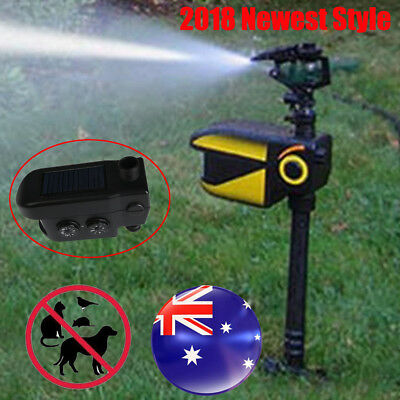 Solar Powered Motion Activated Water Animal Dog Cat Repeller Deterrent Sprinkler
