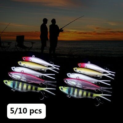 5/10 Soft Plastic Vibe Fishing Lures Tackle 95mm Vibes Blade Trazo Transam Baits