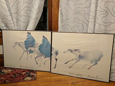 "Carol Grigg 2 Piece Print ""Bringing Hejira Home"" Framed Editions Gallery OR"