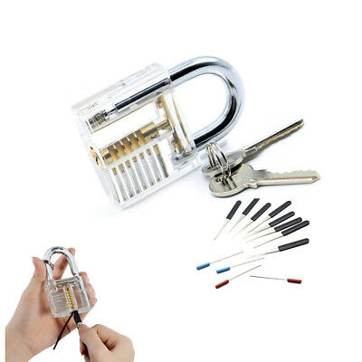 Key Extractor Hooks Extractor Locksmith Tool Practice Padlock Transparent Lock