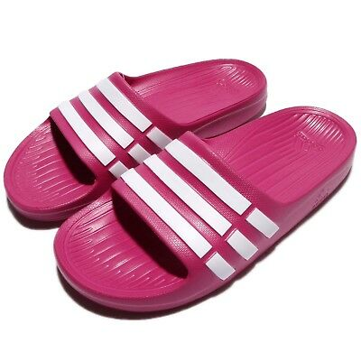 95207a9c2361 adidas Duramo Slide K Pink White Kids Youth Girls Sports Sandal Slippers  G06797